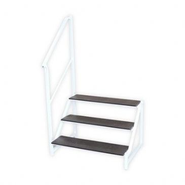 FREE-STANDING 3 TREAD STEP WHITE
